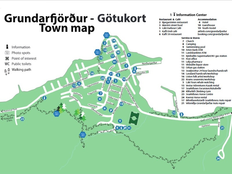 Grundarfjordur Shore Excursions - Map of Grundarfjordur